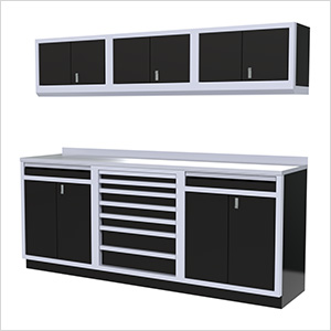 7-Piece Aluminum Garage Cabinets (Black)