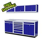 Moduline 7-Piece Aluminum Garage Cabinets (Blue)