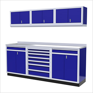 7-Piece Aluminum Garage Cabinets (Blue)