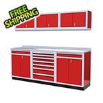 Moduline 7-Piece Aluminum Garage Cabinets (Red)