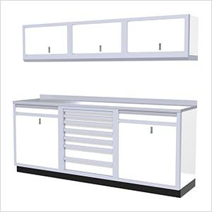 7-Piece Aluminum Garage Cabinets (White)