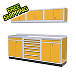 Moduline 7-Piece Aluminum Garage Cabinets (Yellow)