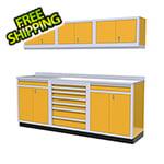 Moduline 7-Piece Aluminum Garage Cabinets (Yellow)