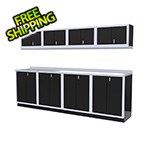 Moduline 9-Piece Aluminum Garage Cabinet Set (Black)