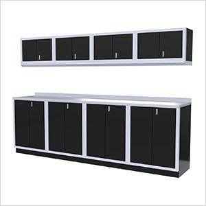 9-Piece Aluminum Garage Cabinet Set (Black)