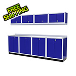 Moduline 9-Piece Aluminum Garage Cabinet Set (Blue)