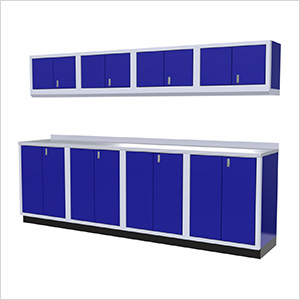 9-Piece Aluminum Garage Cabinet Set (Blue)