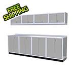 Moduline 9-Piece Aluminum Garage Cabinet Set (Light Grey)