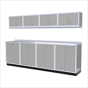 9-Piece Aluminum Garage Cabinet Set (Light Grey)