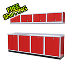 Moduline 9-Piece Aluminum Garage Cabinet Set (Red)