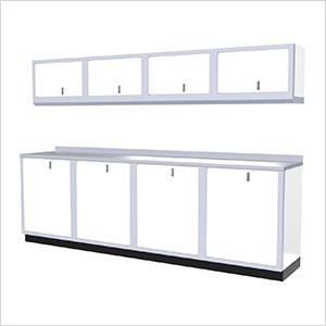 9-Piece Aluminum Garage Cabinet Set (White)