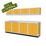 Moduline 9-Piece Aluminum Garage Cabinet Set (Yellow)