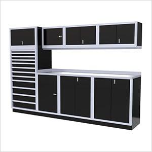 9-Piece Aluminum Cabinet System (Black)