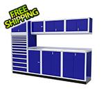 Moduline 9-Piece Aluminum Cabinet System (Blue)