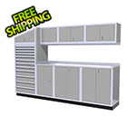 Moduline 9-Piece Aluminum Cabinet System (Light Grey)