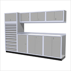 9-Piece Aluminum Cabinet System (Light Grey)