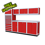 Moduline 9-Piece Aluminum Cabinet System (Red)