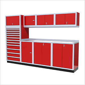9-Piece Aluminum Cabinet System (Red)