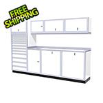 Moduline 9-Piece Aluminum Cabinet System (White)
