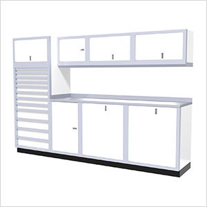 9-Piece Aluminum Cabinet System (White)