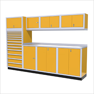 9-Piece Aluminum Cabinet System (Yellow)
