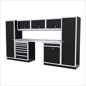 9-Piece Aluminum Garage Cabinetry (Black)