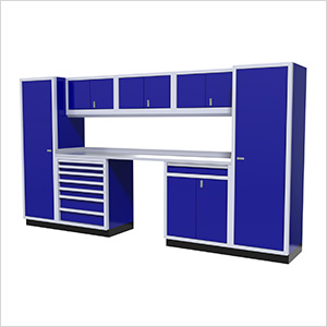 9-Piece Aluminum Garage Cabinetry (Blue)