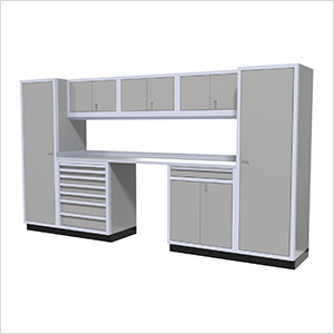 9-Piece Aluminum Garage Cabinetry (Light Grey)