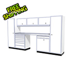 Moduline 9-Piece Aluminum Garage Cabinetry (White)