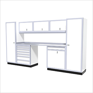 9-Piece Aluminum Garage Cabinetry (White)