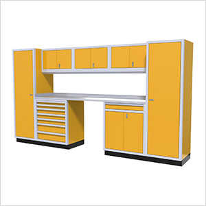 9-Piece Aluminum Garage Cabinetry (Yellow)