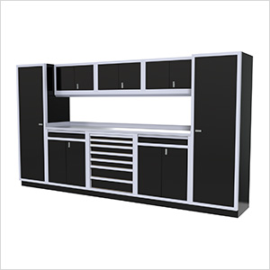 9-Piece Aluminum Cabinet Kit (Black)