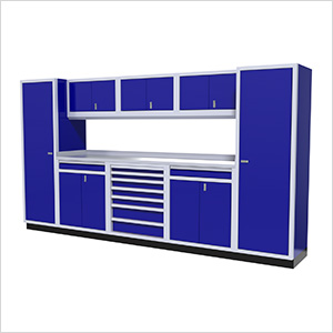 9-Piece Aluminum Cabinet Kit (Blue)