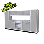 Moduline 9-Piece Aluminum Cabinet Kit (Light Grey)