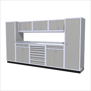 9-Piece Aluminum Cabinet Kit (Light Grey)