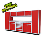 Moduline 9-Piece Aluminum Cabinet Kit (Red)