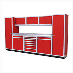 9-Piece Aluminum Cabinet Kit (Red)