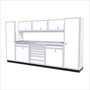 9-Piece Aluminum Cabinet Kit (White)