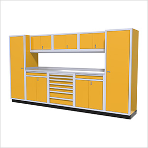 9-Piece Aluminum Cabinet Kit (Yellow)