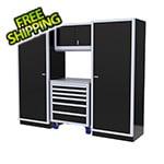 Moduline 4-Piece Aluminum Garage Cabinet Set (Black)