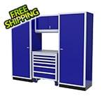Moduline 4-Piece Aluminum Garage Cabinet Set (Blue)