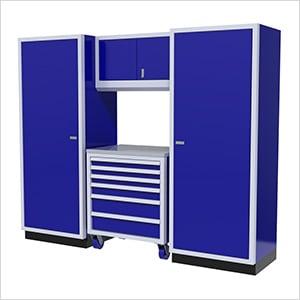 4-Piece Aluminum Garage Cabinet Set (Blue)