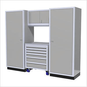 4-Piece Aluminum Garage Cabinet Set (Light Grey)