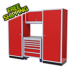 Moduline 4-Piece Aluminum Garage Cabinet Set (Red)