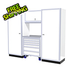 Moduline 4-Piece Aluminum Garage Cabinet Set (White)