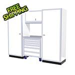 Moduline 4-Piece Aluminum Garage Cabinet Set (White)