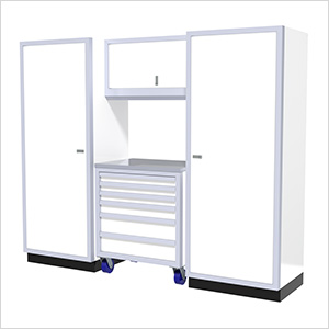 4-Piece Aluminum Garage Cabinet Set (White)