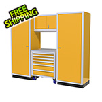 Moduline 4-Piece Aluminum Garage Cabinet Set (Yellow)