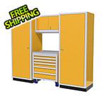 Moduline 4-Piece Aluminum Garage Cabinet Set (Yellow)