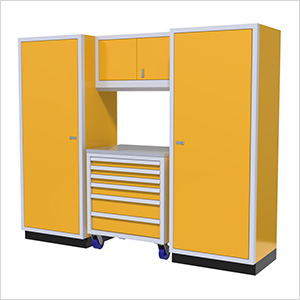 4-Piece Aluminum Garage Cabinet Set (Yellow)